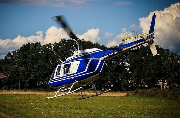 Hubschrauber über Braunschweig